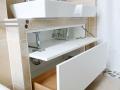 Waschtischunterschrank für zwei Waschbecken Detail
