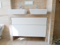 Waschtischunterschrank für zwei Waschbecken