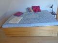 Bett aus Kiefer mit Schubladen