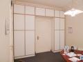 Büroschrank mit grifflosen Fronten