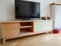 Sideboard Massivholz Erle und farbiges HPL