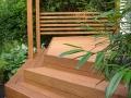 Terrasse aus Lärchenholz und Überdachung