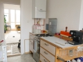 Küche aus Multiplex mit HPL-Arbeitsplatte