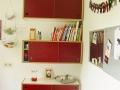 Küche aus Multiplex rot filmbeschichtet Detail