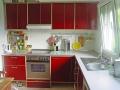 Küche aus Multiplex rot filmbeschichtet