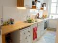 Küche aus handverlesener Lärche und Multiplex