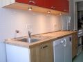 Küche mit Massivholzfronten aus Birke
