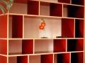 Regal aus Multiplex Rot Filmbeschichtet